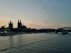 Sunset in Köllefornia. #Cologne #Rhine #Riverbank #Sunset...