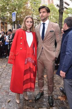 Olivia Palermo and are seen arrivinga at Valentino show as part of the Paris Fashion Week Womenswear Spring/Summer 2018 on October 1 2017 in Paris. Milan Men's Fashion Week, Paris Fashion, Olivia Palermo Style, Spring Summer 2018, Celebrity Style, Duster Coat, Women Wear, Celebrities, Womens Fashion
