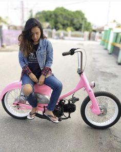C90 Honda, Honda Cub, Mini Chopper, Minibike, Mopeds, Go Kart, Bikers, Cars And Motorcycles, Motorbikes
