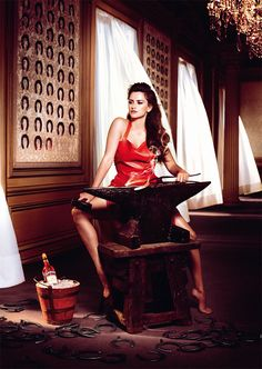 Penelope Cruz in the Campari 2013 Calendar by Kristian Schuller. Design You Trust.