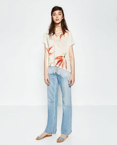 Image 1 of FLORAL PRINT T-SHIRT from Zara
