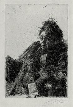 Mme Simon II by Anders Zorn, 1891