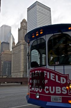 """Always look for the #Cubs Trolley when you're in Chicago. """"ALL ABOARD for the 2013 CHICAGO CUBS MLB SEASON!"""" ☜☜☜ """"GO CUBS, GO""""!!!! ☜☜☜"""