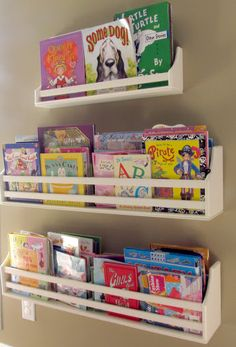 Pottery Barn Kids shelving @ team skelley the blog: home tour 2013 | playroom | #katiedskelley