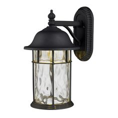 Elk Lighting 42260/1 Single Light Outdoor Wall Sconce from the Lapuente Collecti Matte Black Outdoor Lighting Wall Sconces Outdoor Wall Sconces