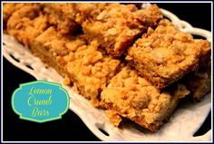 Sweet Tea and Cornbread: Lemon Crumb Bars!
