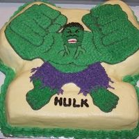 Incredible Hulk Cake Pan | updated picture of the Incredible Hulk I looked at all my novelty pans ...