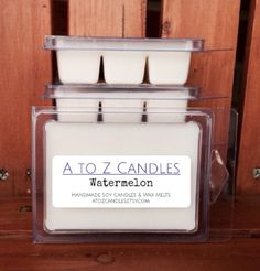 No. 888 | WATERMELON | Natural Soy Wax Melts | 2.75 oz Clamshell | Hand Poured | Vegan | Eco-Friendly | Spring | Summer by AtoZCandles on Etsy https://www.etsy.com/listing/260510883/no-888-watermelon-natural-soy-wax-melts