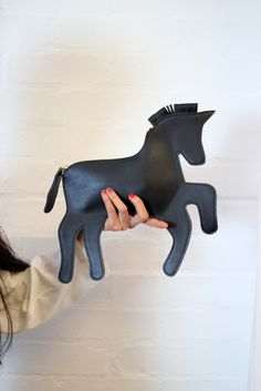 Black Unicorn Clutch Bag  this is cool