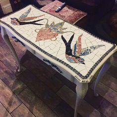 Mosaic Console Table *SOLD* #mosaics #upcycledfurniture #smallbusiness