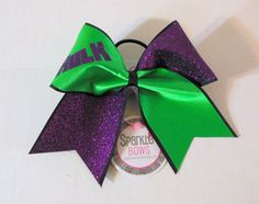 Hulk Super Hero Large Cheer Bow Hair Bow por SparkleBowsCheer