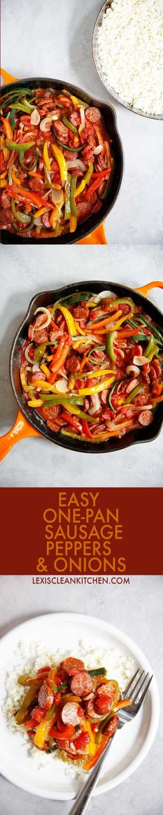 Sausage Peppers and Onions   Lexi's Clean Kitchen