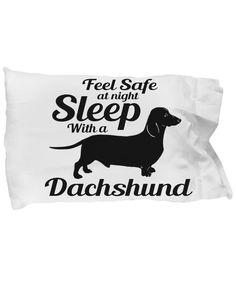 Feel Safe at night Sleep with a Dachshund