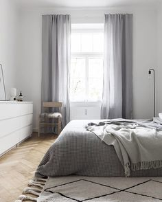 The beautiful @lorenacanalsrugs rug makes our bedroom look soft and cozy and is washable as well #lorenacanalsrugs