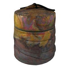 marbled raku pottery   Desert Paintbrush Raku Cremation Urn