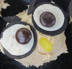 Owl Always Love U Birthday decoration adapted from Hello Cupcake, banana cupcake recipe from Martha Stewart