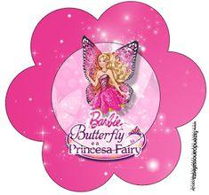 Barbie ve Kelebek Temalı Ücretsiz Parti Seti - Neşeli Süs Evim - Ücretsiz Doğum Günü Süsleri Barbie Party, Kit, Party Printables, Tinkerbell, Flamingo, Minnie Mouse, Fairy, Butterfly, Disney Characters