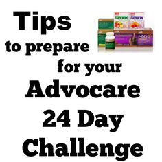 Prepare for your Advocare 24 Day Challenge | Racing Bananas