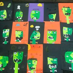 A Picasso inspired Frankenstein is a great craft to make with kids for Halloween. It's easy to make with just a few simple art supplies.