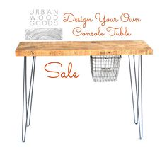 Urban Loft Reclaimed Wood Console Table by UrbanWoodGoods on Etsy, $315.00