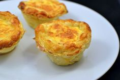 Mini-quiches de queijo fresco e fiambre