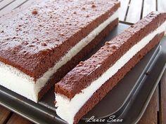 Cunoscuta prajiturica pentru copii din comert Milch Schnitte sau in traducere Felia cu lapte :P, poate fi de-acum si pe mesele voastre datorita acestei retete minunate!!! E prajitura preferata a cop...