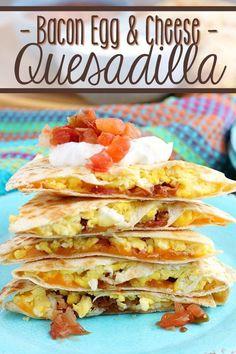 Breakfast Quesadilla, Quesadilla Recipes, Cheese Quesadilla Recipe, Sandwich Recipes, Best Breakfast Recipes, Brunch Recipes, Breakfast Ideas, Breakfast Cooking, Breakfast Wraps