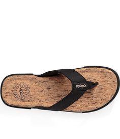 0113628f2bcec1 NEW UGG Braven Men s Flip Flops Slippers Sandals Casual shoes Black Big  Tall 14  fashion