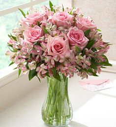 Pink Rose and Peruvian Lily Bouquet