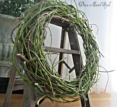 Down to Earth Style: (Wisteria Vine Wreath}