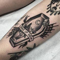 Myra Oh @ Diadem Tattoo 12 Tattoos, Flower Tattoos, Body Art Tattoos, Sleeve Tattoos, Cool Tattoos, Tatoos, Diadem Tattoo, Haunted House Tattoo, Coffin Tattoo