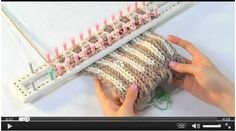 How to make vertical stripes on loom