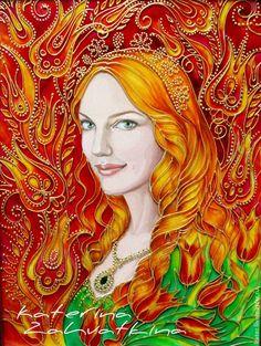 """Люди, ручной работы. Ярмарка Мастеров - ручная работа. Купить Картина """"Хюррем, моя любовь..."""". Handmade. Разноцветный, султан"""