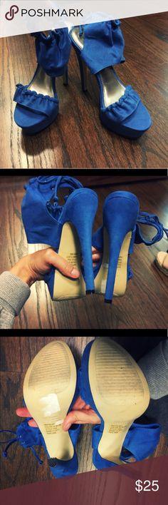 Royal blue heels Royal blue heels Bakers Shoes