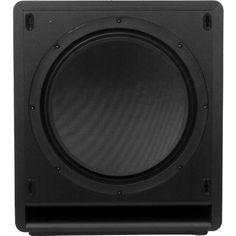 """Klipsch SW-112 Reference Series 12"""" Powered Subwoofer - Each (Black). Dimensions: 16. Each new subwoofer boasts a modern, unobtrusive design, and features the latest in amplifier and driver technology for unrivalled power and efficient bass extension. Highly efficient design produces more output using less energy. Featuring a BASH Digital Hybrid amplifier and a highly damped, non-resonant woven fiberglass driver, this sonic wonder enhances any speaker system and blends seamlessly..."""