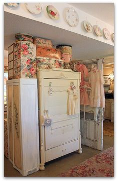 this is pretty twee for my taste, but if you had just the hat boxes or just the plates or dresses it'd be alright
