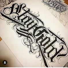 Dibujos Tattoo, Foto E Video, Photo And Video, Calligraphy Alphabet, Chest Tattoo, Script, Fonts, Ink, Lettering