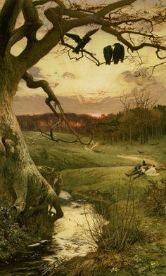 Edward Frederick Brewtnall, Three Ravens, 1885