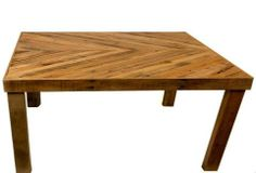 beautiful reclaimed wood chevron table from Lamon Luther - with a great story behind it