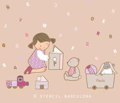 Vinilos infantiles de stencil barcelona