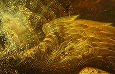 Oleg Korolev | Олег Королёв. Peresvet, Oslyabya, Divine Gloom. detail. Oil, Canvas, 195x120cm 2006