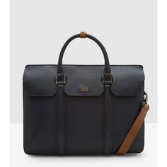 Ted Baker Luxury Leather Document Bag (1,010 CAD) ❤ liked on Polyvore featuring bags, handbags, shoulder bags, navy, genuine leather shoulder bag, foldover purse, ted baker, ted baker purse and top handle leather handbags
