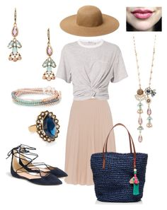 """Springtime Parisian Belle"" by nikki-abissi on Polyvore featuring Piazza Sempione, T By Alexander Wang, Chloe + Isabel and J.Crew"