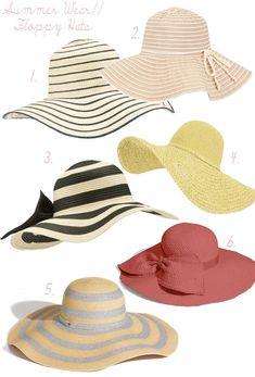 HAT STYLES PAMELAS | Floppy hats = summer style