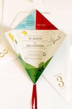 wedding kites | kite wedding invitation wedding invitation designed for a friend