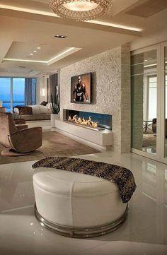 Love this room. Modern Loft Apartment, Apartment Interior Design, Contemporary Interior Design, Luxury Interior Design, Modern Houses Pictures, Unusual Furniture, Cabin Interiors, Dream Rooms, Living Spaces