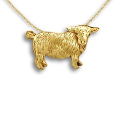 14k Gold Goat Large