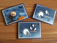 """Einen """"wunder""""schönen Guten Tag, als ich vor zwei Wochen mit meiner Spooky Halloween Karte bei der IN{K]SPIRE_me teilgenommen habe (Karte mittig im Bild) habe ich Euch zwei Karten vore…"""