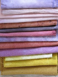 natural dyes. beautiful.