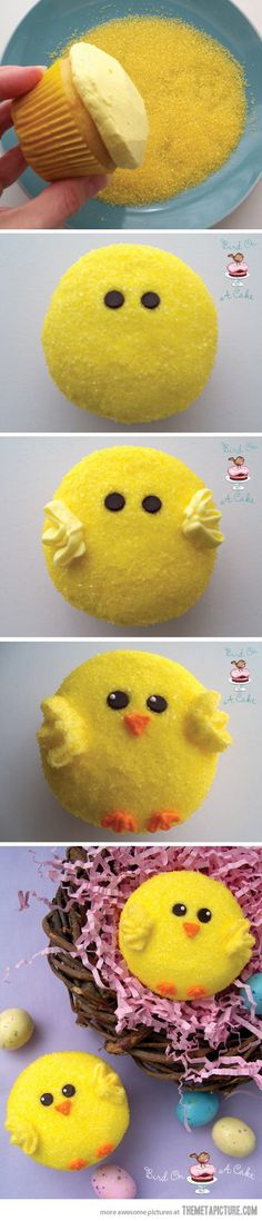 Easter cupcakes. Looks easy enough. :)